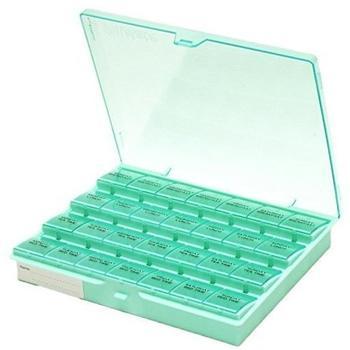 CareLiv Tablettenbox für 1 Woche mit Klappdeckel 28 Fächer