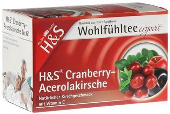 H&S Cranberry-Acerolakirsche mit Vitamin C Nr. 61 (20 Stk.)