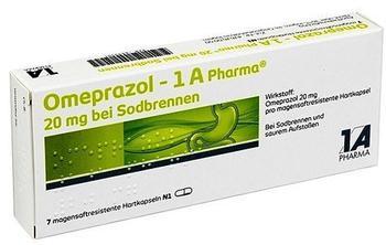 1 A Pharma Omeprazol 1A Pharma 20 mg bei Sodbrennen msr.Kaps. 7 St