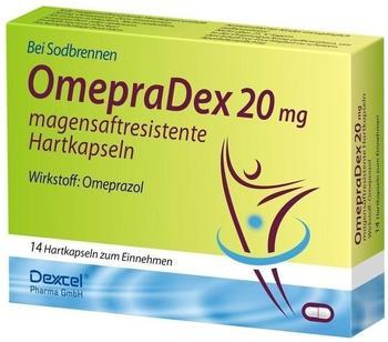 Dexcel Pharma OMEPRADEX 20 mg magensaftresistente Hartkapseln 14 St