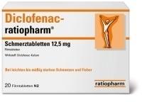 Ratiopharm DICLOFENAC ratiopharm Schmerztabletten 12,5 mg 20 St