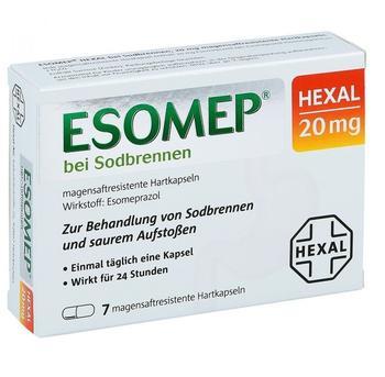Hexal ESOMEP HEXAL bei Sodbrennen 20 mg magensaftr.Hkp. 7 St