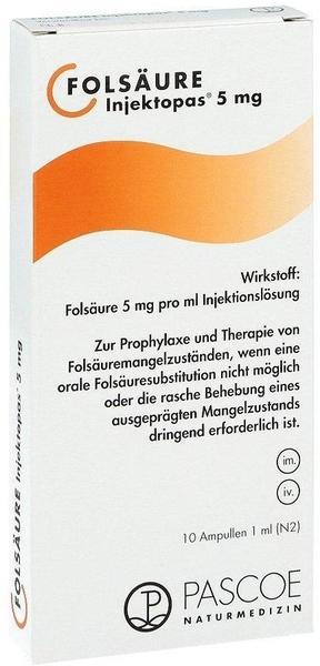 Pascoe Naturmedizin Folsäure Injektopas 5mg Ampullen (10x1ml)