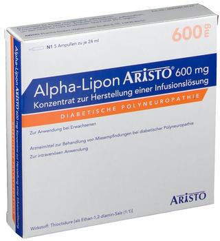 Alpha Lipon Aristo 600 mg Konzentrat zur Herstellung einer Infusionslösung (5x24ml)