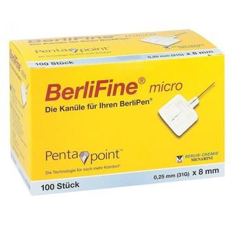 Berlin-Chemie Berlifine micro Kanülen 0,25x8 mm (100 Stk.)