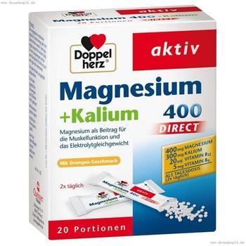 Doppelherz Magnesium + Kalium Direct Portionsbeutel (20 Stk.)
