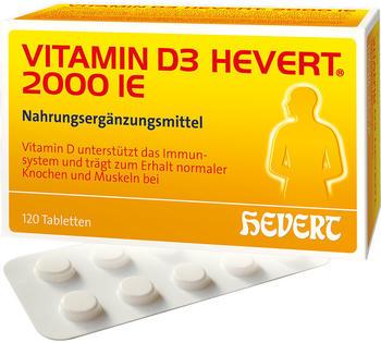 Hevert Vitamin D3 2.000 I.E. Tabletten (120 Stk.)