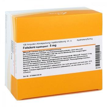 Pascoe Naturmedizin Folsäure Injektopas 5mg Ampullen (100x1ml)