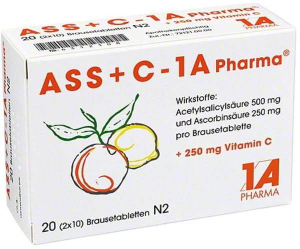 ASS + C 1A Pharma Brausetabletten 20 St Brausetabletten