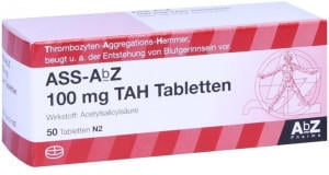 AbZ Pharma GmbH ASS-AbZ 100 mg TAH Tabletten 50 St.