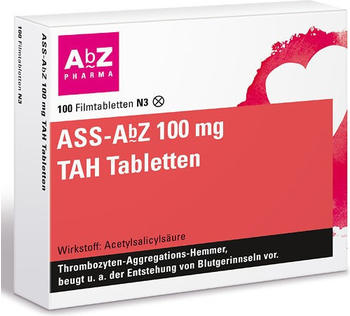 ASS TAH 100mg Tabletten (100 Stk.)