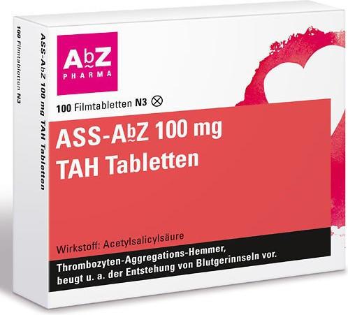 ASS TAH 100mg Tabletten (100 Stk.)