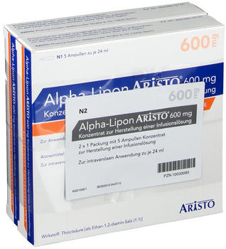 ARISTO Alpha-Lipon Aristo 600 mg Konzentrat z.H.e.Infl. 10x24 ml