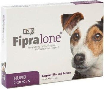 O Zoo GmbH Fipralone für kleine Hunde 67mg 4 Stück