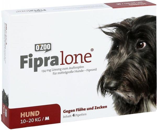 O Zoo GmbH Fipralone für mittlere Hunde 134mg 4 Stück