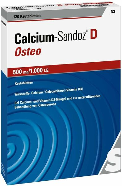 Hexal Calcium-Sandoz D Osteo 500mg/1.000 IE Kautablette 120 St.
