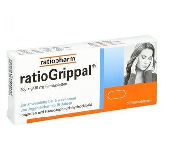 Ratiopharm RATIOGRIPPAL 200 mg/30 mg Filmtabletten 10 St