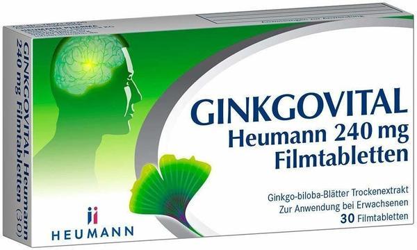 GINKGOVITAL Heumann 240 mg Filmtabletten (30 Stk.)