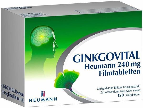 HEUMANN PHARMA GmbH & Co Generica KG Ginkgovital Heumann 240 mg Filmtabletten 120 St.