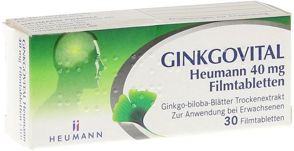 GINKGOVITAL Heumann 40 mg Filmtabletten (30 Stk.)
