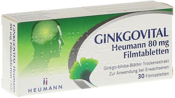 HEUMANN PHARMA GmbH & Co Generica KG Ginkgovital Heumann 80 mg Filmtabletten 30 St.
