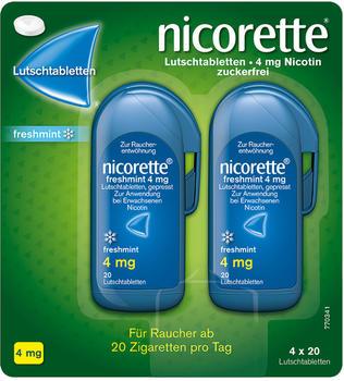 nicorette Freshmint 4 mg Lutschtabletten (4 x 20 Stk.)
