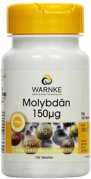 Warnke Gesundheit Molybdän 150µg Tabletten (100 Stk.)