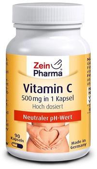 ZeinPharma Vitamin C gepuffert Kapseln 500mg (90 Stk.)