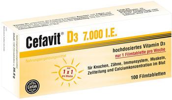 Cefak KG Cefavit D3 7.000 I.E. Filmtabletten (100 Stk.)