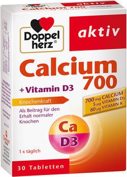 Doppelherz Calcium 700 + Vitamin D3 Tabletten (30 Stk.)