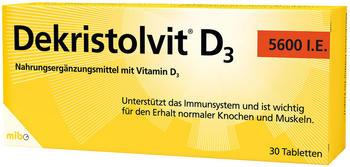 Hübner Dekristolvit D3 5.600 I.E. Tabletten (30 Stk.)