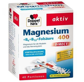 Doppelherz Magnesium 400 Direct + B6 + B12 + Folsäure (40 Stk.)