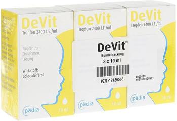 Pädia GmbH DeVit Tropfen 2400 I.E./ml 3x10 ml