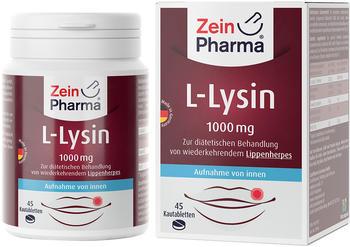ZeinPharma L-Lysin 1000mg Zitrone Kautabletten (45 Stk.)
