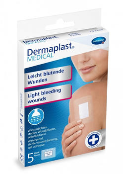 Hartmann Dermaplast Medical Wundpflaster wasserdicht 7,2 x 5 cm (5 Stk.)