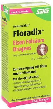 Salus Pharma Floradix Eisen Folsäure Dragees (84 Stk.)