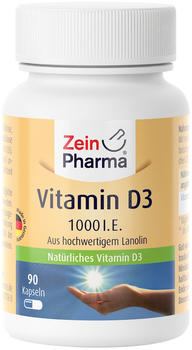 ZeinPharma Vitamin D3 1.000 I.E. Kapseln (90 Stk.)