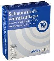 AKTIVMED GMBH aktivmed Schaumstoffwundauf.sens.silik.Haft7.5x7.5