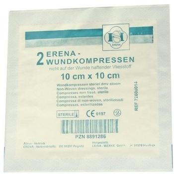 Erena Vlieskompressen 10 x 10 cm Steril (2 Stk.)