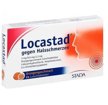 Locastad gegen Halsschmerzen Orange (24 Stk.)