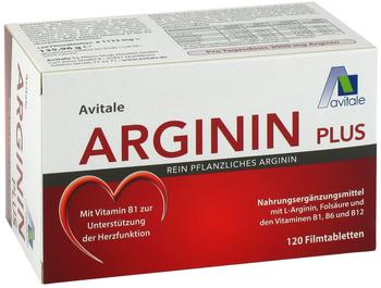 Avitale Arginin plus Vitamin B1+B6+B12+Folsäure Filmtabletten (120 Stk.)