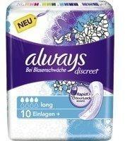 Procter & Gamble ALWAYS discreet Inkontinenz Binden long 10 St