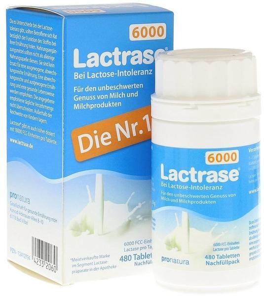 Pro Natura Gesellschaft für gesunde Ernährung mbH Lactrase 6000 FCC Tbl. Klickspender-Nachfüllpack