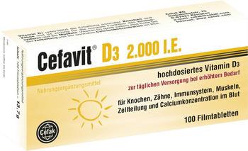 Cefak KG Cefavit D3 2.000 I.E. Filmtabletten (100 Stk.)