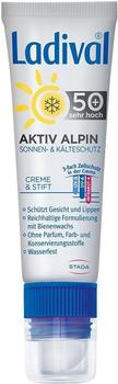 Ladival Aktiv Alpin Sonnen- & Kälteschutz Creme & Stift LSF 50+ (30ml)