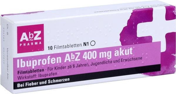 Ibuprofen 400 mg akut Filmtabletten (10 Stk.)