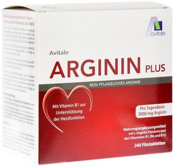 Avitale Plus Vitamin B1+B6+B12+Folsäure Filmtabletten (240 Stk.)