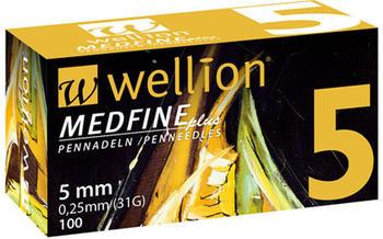 Wellion Medfine plus Pen-Nadeln 5 mm (100 Stk.)