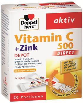 Doppelherz Vitamin C 500 + Zink Depot direct Beutel (20 Stk.)