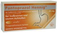 Pantoprazol Hennig bei Sodbrennen 20 mg